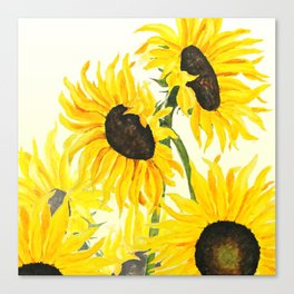 sunflower watercolor 2017 Canvas Print