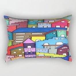 Crazy Houses Rectangular Pillow
