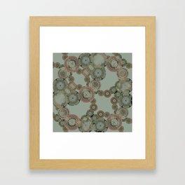 MATRIX FLORAL Framed Art Print