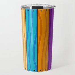 Rainbow Fence Travel Mug