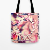trippy Tote Bags featuring Trippy  by Pink Berry Patterns