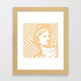 Gods Geometric - Apollo Framed Art Print