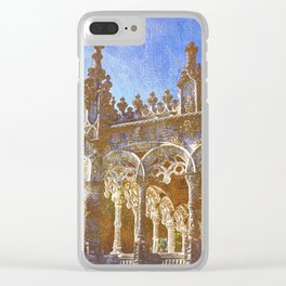 Gothic tracery, Bucaco, Portugal Clear iPhone Case