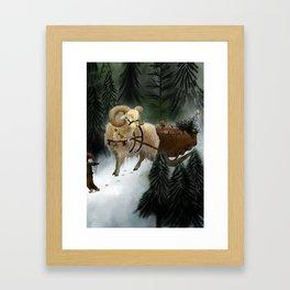 julebukk Framed Art Print