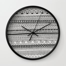 Pattern Line Abstract Wall Clock