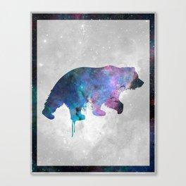 Galaxy Series (Bear) Canvas Print