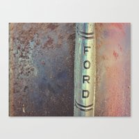 ford Canvas Prints featuring FORD by Heather Lindberg