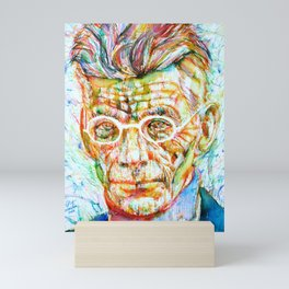SAMUEL BECKETT watercolor and ink portrait.2 Mini Art Print