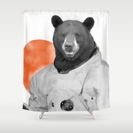 Mr. Space Bear Shower Curtain