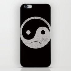 yin yang smiley ;-( iPhone & iPod Skin