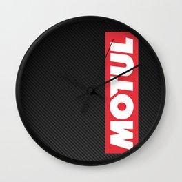 Motul Carbon design Wall Clock
