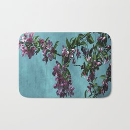 Pink Over Turquoise by CheyAnne Sexton Bath Mat