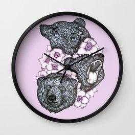 Blushing Bears in Bears Wall Clock