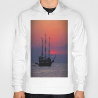 sailing Hoodies featuring sailing by Claudia Otte ArtOfPictures