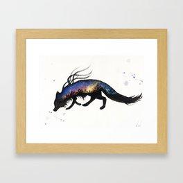 Aurora Australis Fox Framed Art Print