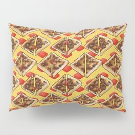 All the Vegemite on Toast, Yellow and Red Pillow Sham