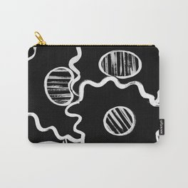 Three Flowers in Black Carry-All Pouch