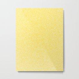 Melange - White and Gold Yellow Metal Print