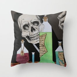 Potions and Poisons Throw Pillow