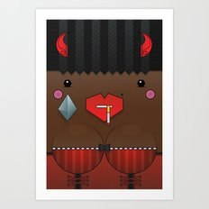 Cookie the Valentine's Spirit Art Print
