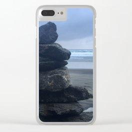 Serenity At Muir Beach Clear iPhone Case