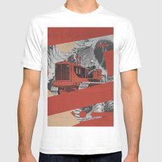 Red Valley White MEDIUM Mens Fitted Tee