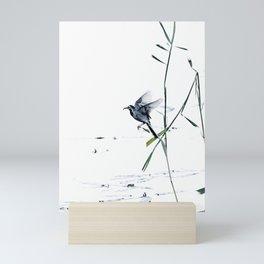 Little Bird (Wagtail - Eurasian Songbird) by The Reeds #decor #society6 #buyart Mini Art Print