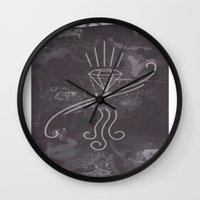 graffiti Wall Clocks featuring Graffiti by Isaak_Rodriguez