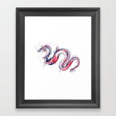 Koi Dragon Framed Art Print
