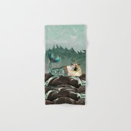 Behold the Mythical Merkitticorn - Mermaid Kitty Cat Unicorn Hand & Bath Towel