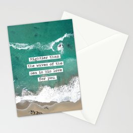 Mightier Than the Waves of the Sea Stationery Cards