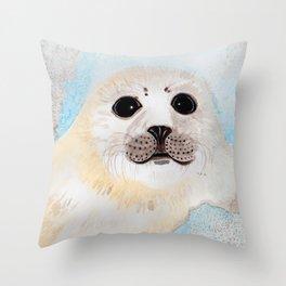 Fur Seal Pup Throw Pillow