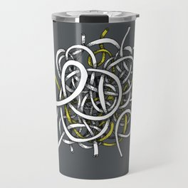 wire ball - yellow Travel Mug