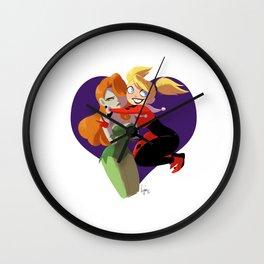 Ivy and Harley Wall Clock
