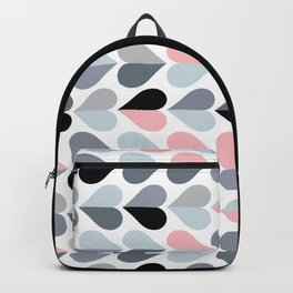 Love and Kisses in Pink and Grey Backpack