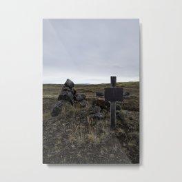 Cross above Jökulsá á Fjöllum, Iceland Metal Print