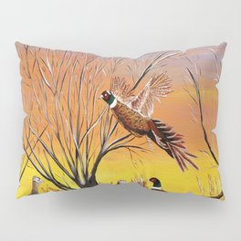 Pheasants in the sunrise Pillow Sham