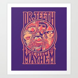 Electric Mayhem Art Print