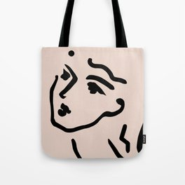Lady Face Tote Bag