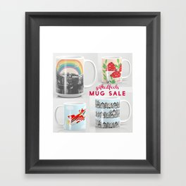 MUG SALE ! 5$off and free shipping! WOOHOO! Framed Art Print