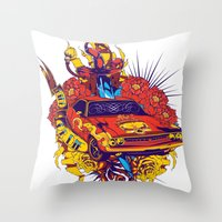 muscle Throw Pillows featuring Muscle by Tshirt-Factory