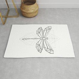 Polygonal Dragonfly Rug