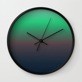 Ombre Northen Lights Wall Clock