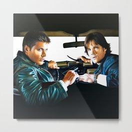 Sam and Dean Supernatural Metal Print