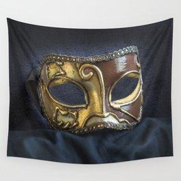 Venetian Mask Wall Tapestry