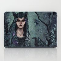 maleficent iPad Cases featuring Maleficent by Angela Rizza
