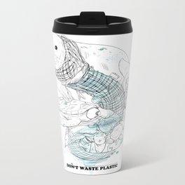 Don't waste plastic Metal Travel Mug