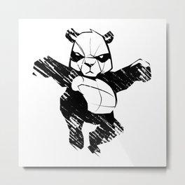 sketch panda martial arts Metal Print
