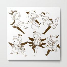 SUPERNATURAL SAM DEAN CASTIEL Metal Print