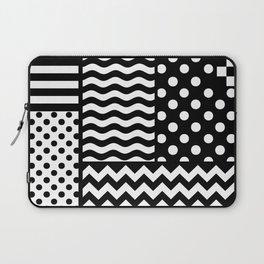 Mixed Patterns (Horizontal Stripes/Polka Dots/Wavy Stripes/Chevron/Checker) Laptop Sleeve